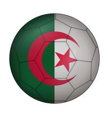 soccer ball flag of Algeria