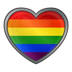 Heart in Rainbow Colors Gay Lesbian