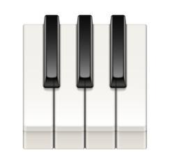 Touches de piano vectorielles 1