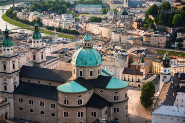 View of Salzburger Dom and the city, Salzburg, Austria