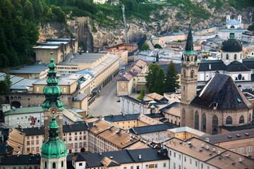 View of Salzburg in the evening,  Austria
