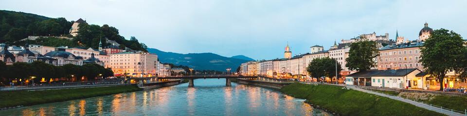 Beautiful panoramic view of Salzburg skyline, Austria