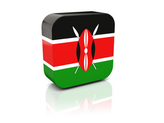 Square icon with flag of kenya