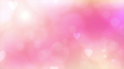 romantic blurred loop animation  with lights and heart.