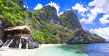 tropical beach scenery, Palawan (Philippines)