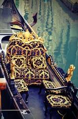 elegant and luxurious interior of the gondola