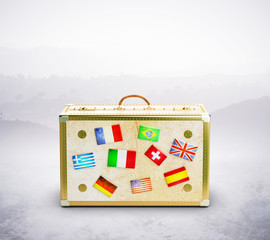 travel bag with flags