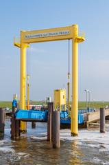 Ferry slip on the Hallig Hooge in the Wadden Sea