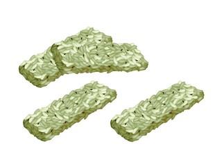 Green Tea Kaminariokoshi Is A Traditional Japanese Crispy Rice