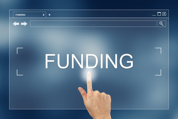 hand press on funding button on website
