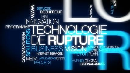 Technologie de Rupture innovation nuage de mots tag cloud