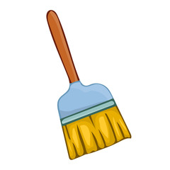 broom isolated illustration