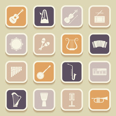 Musical instruments universal icons for web and mobile