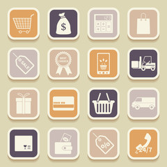 Shopping universal icons for web and mobile applications. Vector