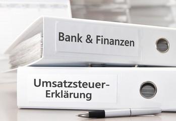 Bank & Finanzen / Umsatzsteuererklärung Ordner