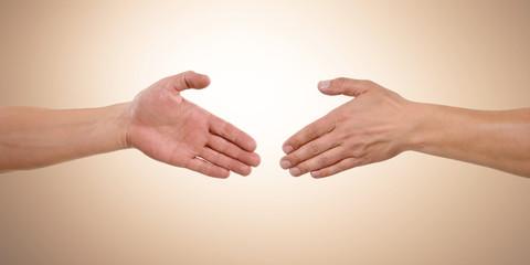 Hände reichen - Partnerschaft