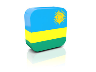 Square icon with flag of rwanda