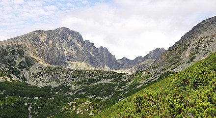High Tatras mountains in summer, Slovakia, Europe