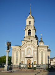 The cathedral Orthodox temple is in Donetsk. Ukraine