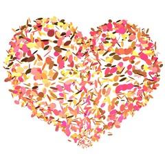 Vrolijk feestelijk hart met gekleurde snippers