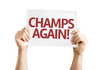 Champs Again card isolated on white background