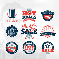Presidents day sign and symbols - sale labels