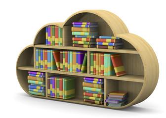 Online Library Concept - 3D