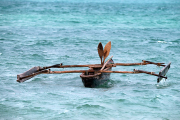 Africal native boat