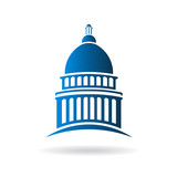 Vector Capitol building icon - 77378588