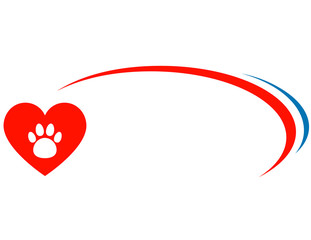 veterinarian background with heart
