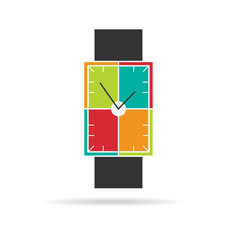 Smart watch contemporary colorful design