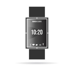 Smart watch contemporary black color design