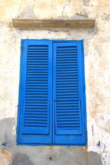 Finestra blu chiusa