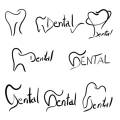 Abstract dental illustration of a teeth