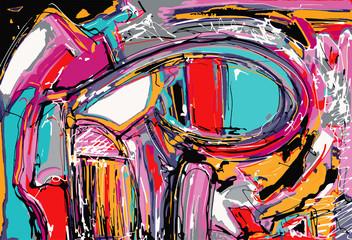 original illustration of abstract art digital painting