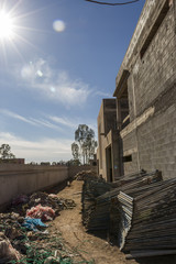 Ongoing Construction of Architectural Building