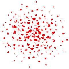 Herzkonfetti Explosion