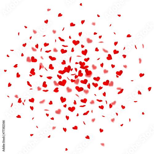 Zdjęcia na płótnie, fototapety, obrazy : Herzkonfetti Explosion