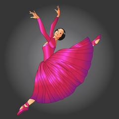 dancer in red dress
