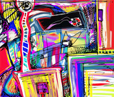 Fototapety original digital painting of abstraction composition