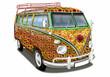 Deutscher Oldtimer, Flower Power, Wohnmobil, Camper - 77383759