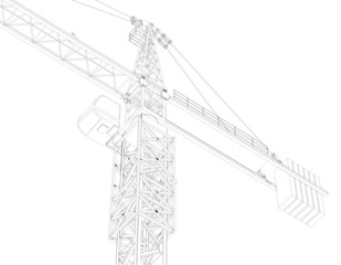 Tower crane, top, part