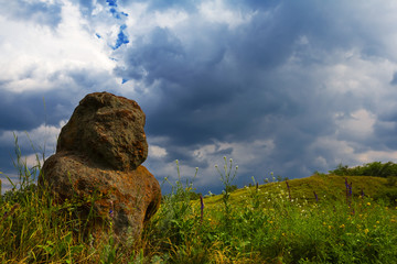 ancient idol among a fields