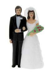 Hochzeitspaar als Deko