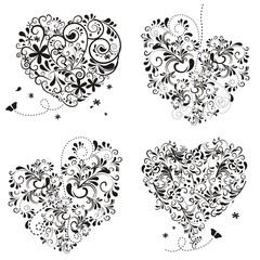 Herzen aus Ornamenten