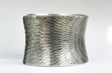 silver bracelet on the side