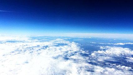 Cloud and sky view from a airplane 1