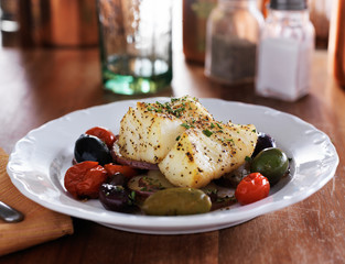 mediterranean cod filet with vegetables