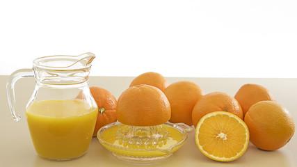 oranges transformées en jus
