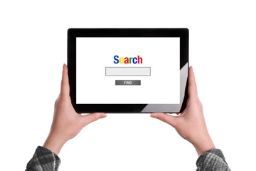 Search The Internet on Tablet Computer